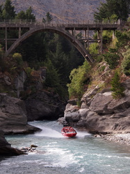 Jetboat im Canyon bei Queenstown