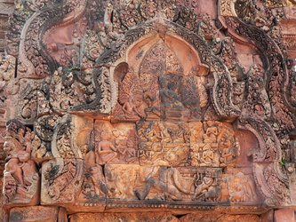Ornament am Banteay Srei-Tempel