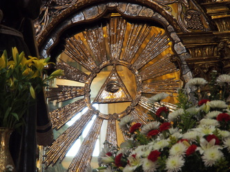 Detail hinter dem Altar - Iglesia de San Francisco
