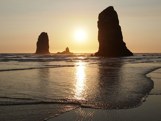 Cannon Beach am Abend