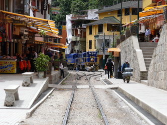 Bahnlinie in Aguas Calientes