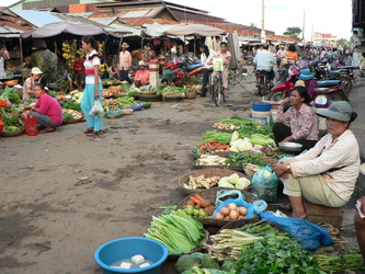 Markt in Kampong Thom