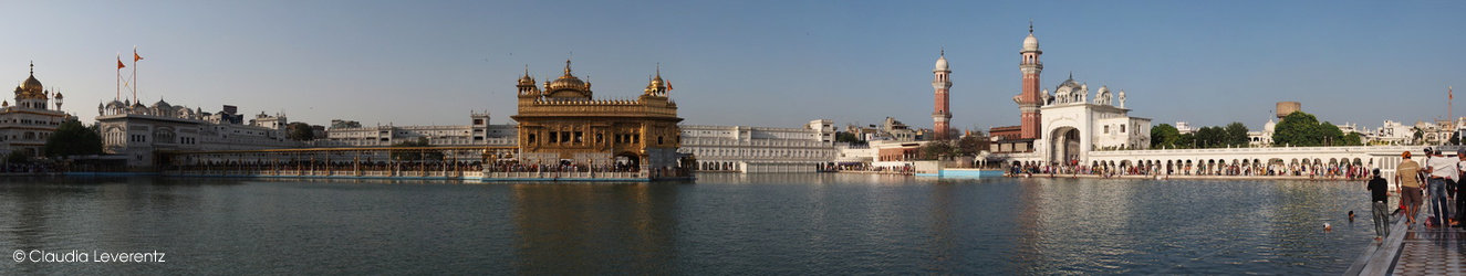 Panoramablick am goldenen Tempel in Amritsar
